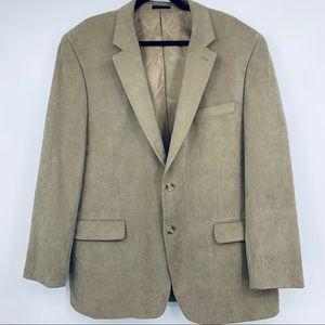 Andrew Fezza Mens blazer Sports Coat XL Tan